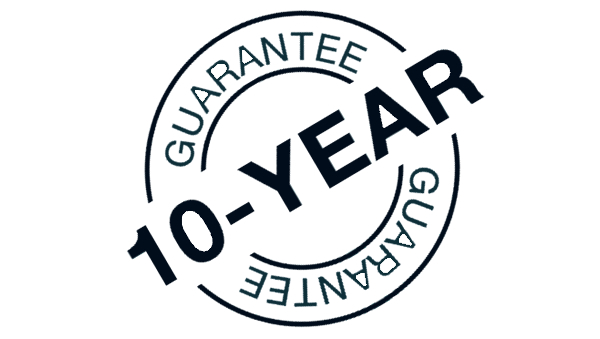 A picture showing that we offer a 10 year guarantee on our fence panels