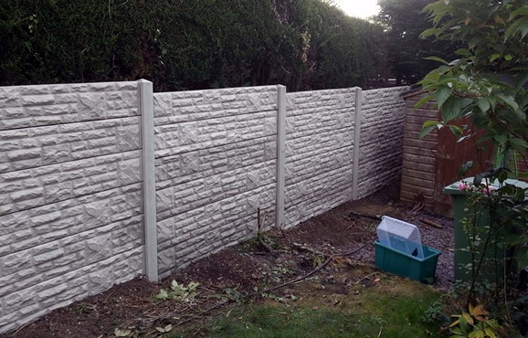 we install concrete fencing in derbyshire